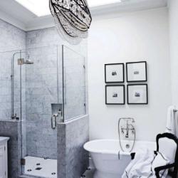 ... White And Nautical Bathroom