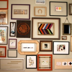 Eclectic Wall Art diy frame gallery | dwellinggawker - page 2