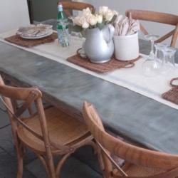 ... DIY Zinc Top Table