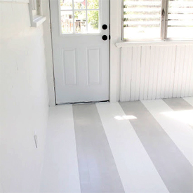 ... Painting Stripes On Wood Floors