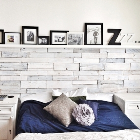 White Washed Wood Pallet Wall