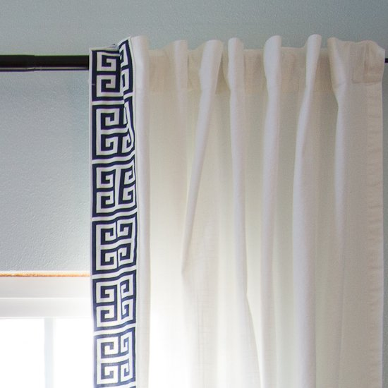 Diy Greek Key Trim Curtains Curtain Menzilperde Net