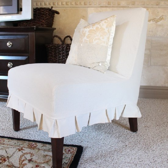 Superbe ... How To Slipcover An Armless Chair
