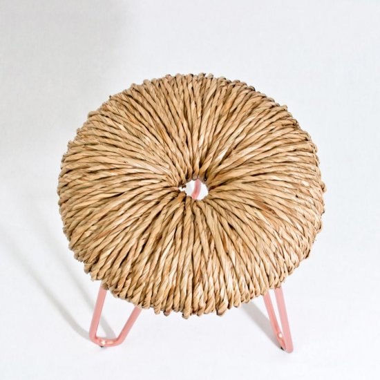 straw stools handwoven in italy