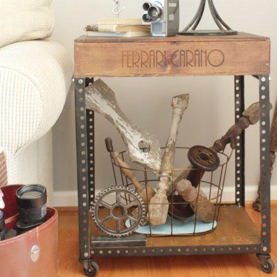 DIY Industrial Side Table