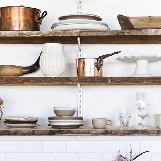 Superior ... RUSTIC KITCHEN SHELVING INSPIRATION