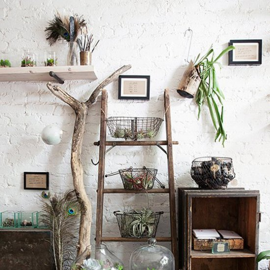 Nature decoration ideas home design 2017 for Decorative items for home with waste material