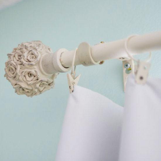 28 best shabby chic curtain pole custom closet rod - Shabby chic curtain poles ...