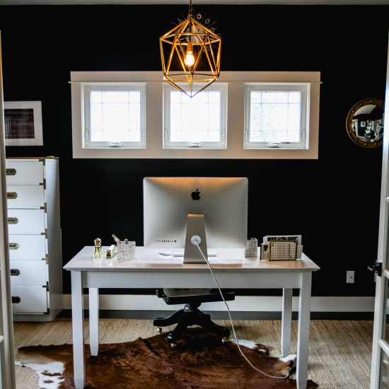 Charmant ... Black And Gold Home Office