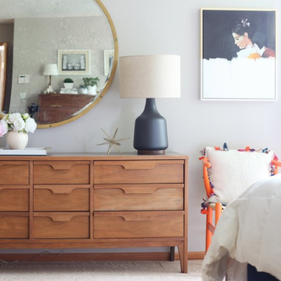 Mid Century Modern Bedroom mid-century modern bedroom makeover | dwellinggawker