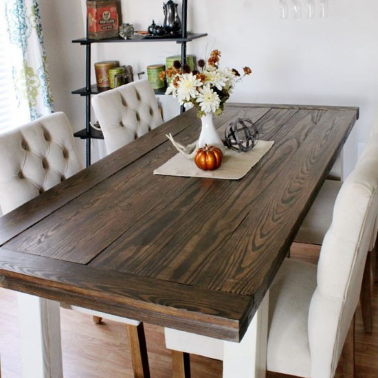 Diy Farmhouse Dining Table Triple