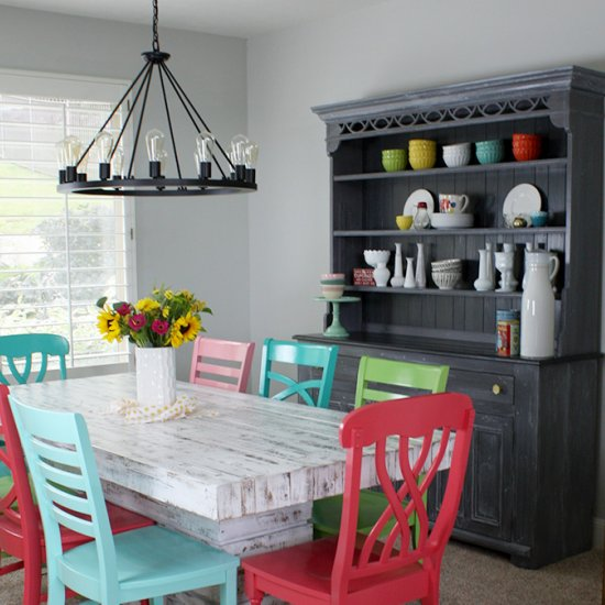 Cheerful Dining Room Makeover