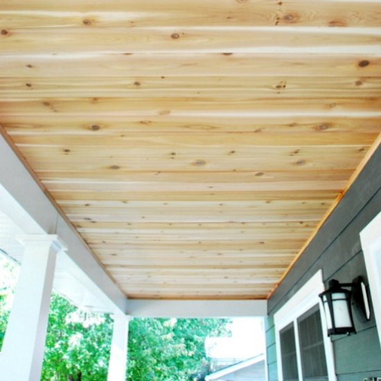how to build a cedar porch ceiling the sweetest digs - Wood Under Porch Ceiling