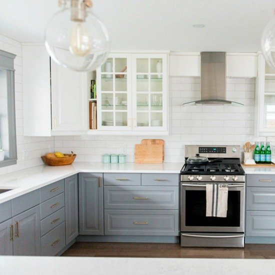 gray & white ikea kitchen makeover | dwellinggawker