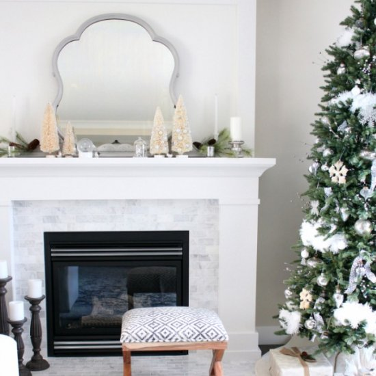 Winter Wonderland Christmas Mantel
