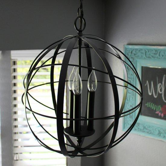 Diy orb chandelier dwellinggawker diy orb chandelier aloadofball Images