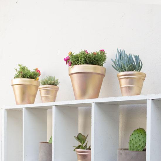 DIY Metallic Pots