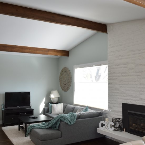 Update wooden beams for under $10
