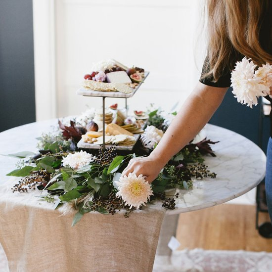 blush Thanksgiving centerpiece