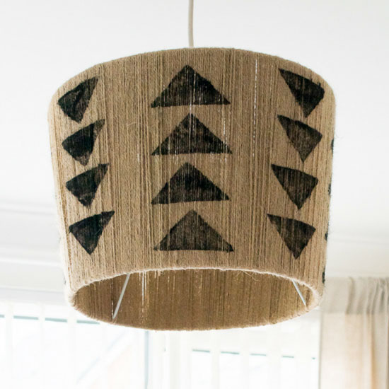 The easiest diy jute lampshade!