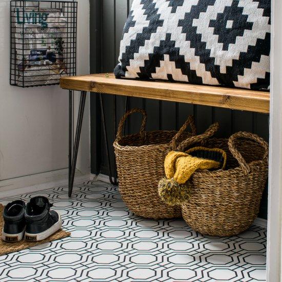 How to wallpaper a floor!