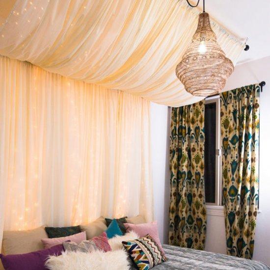 Diy Fairy Lights Canopy
