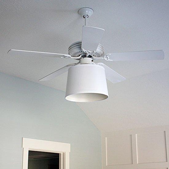 Diy Ceiling Fan Drum Shade Upgrade Dwellinggawker