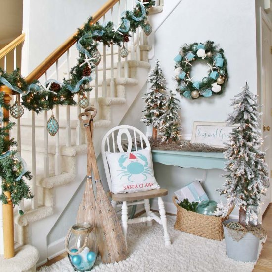 christmas entryway ideas